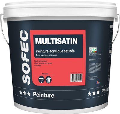 peinture acrylique colabel multisatin blanc 9129 2 5 achetez votre peinture cologique. Black Bedroom Furniture Sets. Home Design Ideas