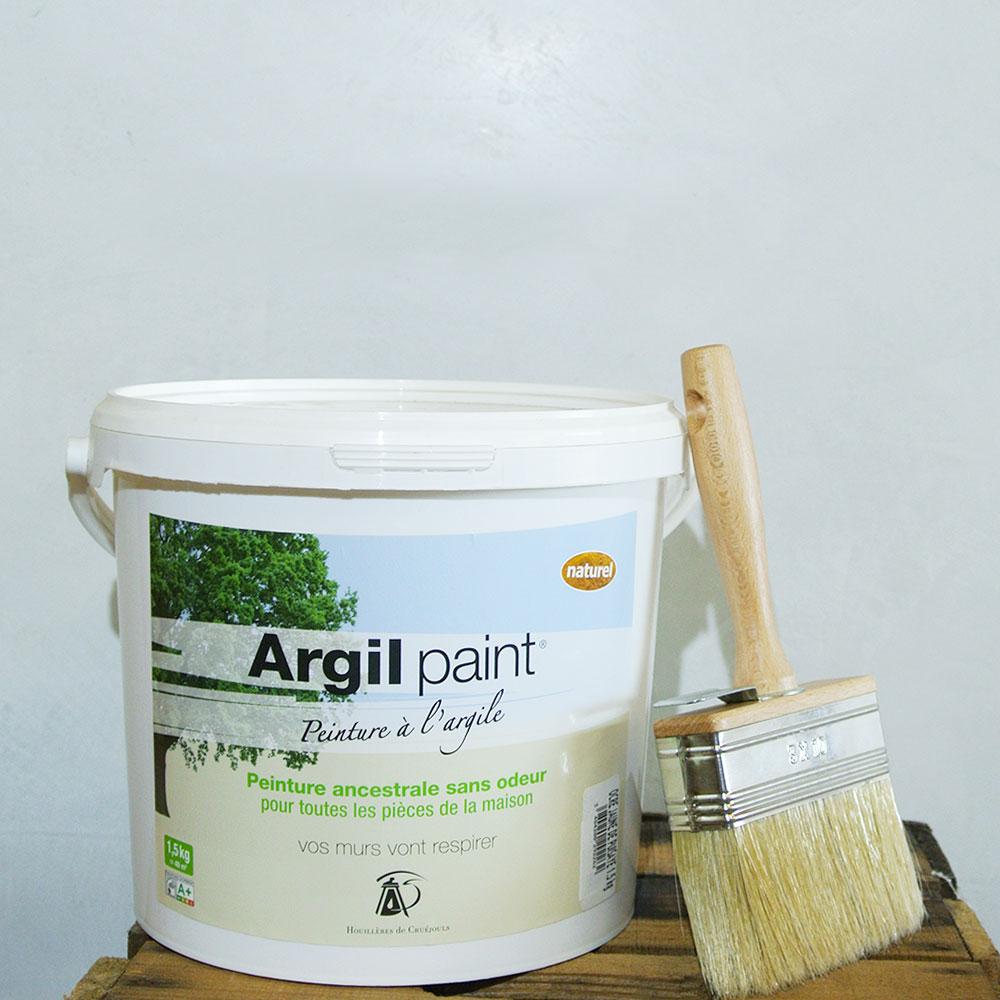 peinture naturelle l argile blanc 9401 1 5 achetez votre peinture cologique naturelle. Black Bedroom Furniture Sets. Home Design Ideas